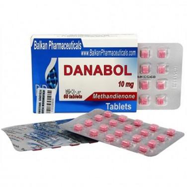 Danabol Данабол Метандиенон Метан 10 мг, 100 таблеток, Balkan Pharmaceuticals в Караганде