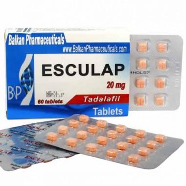 Esculap Тадалафил Эскулап 20 мг, 20 таблеток, Balkan Pharmaceuticals в Караганде